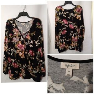 Style & Co Floral Top